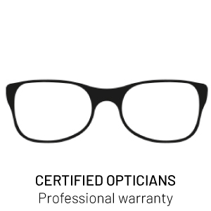 Certified opticians, professional warranty