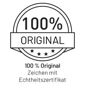 100% original, zeichen mit echtheitszertifikat