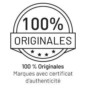 100% originales, marques avec certificat d'authenticité