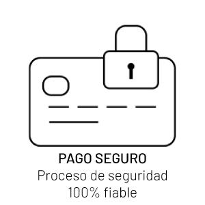 Pago seguro, proceso de seguridad 100% fiable