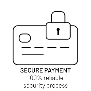 Secure payment, 100% reliable security process